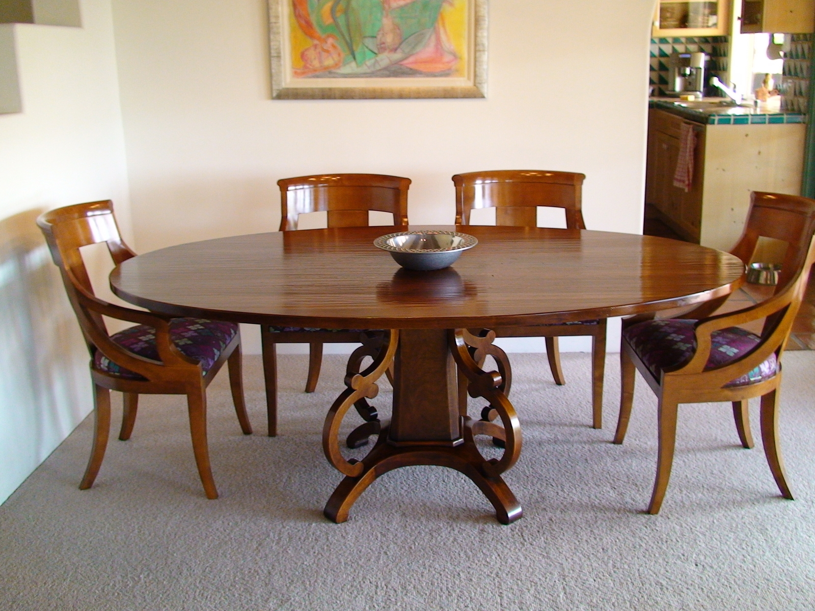 Wood dining table designs full hd pictures for Best shaped table for small dining room