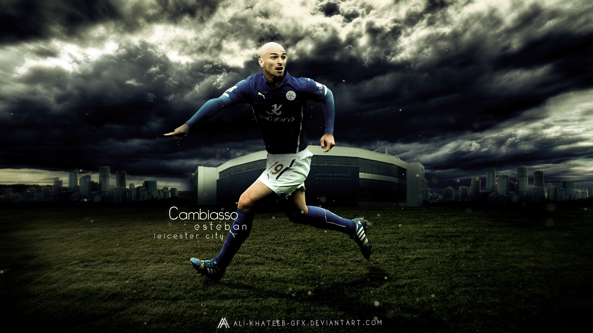 Cambiasso Leicester City Wallpaper
