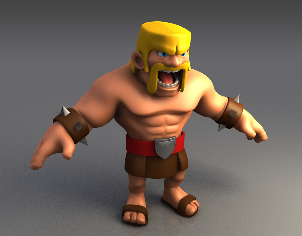 Clash of Clans Barbarian Desktop | Full HD Pictures
