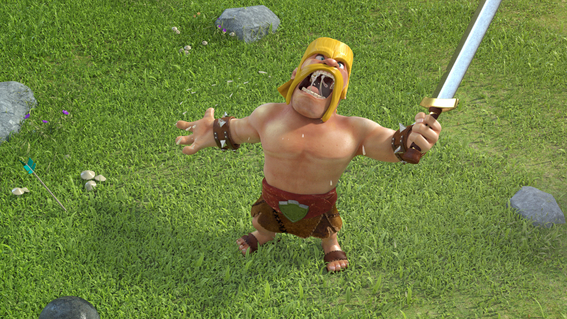 Barbarian Clash Of Clans Hd Hd Games 4k Wallpapers: Clash Of Clans Barbarian HD Wallpaper