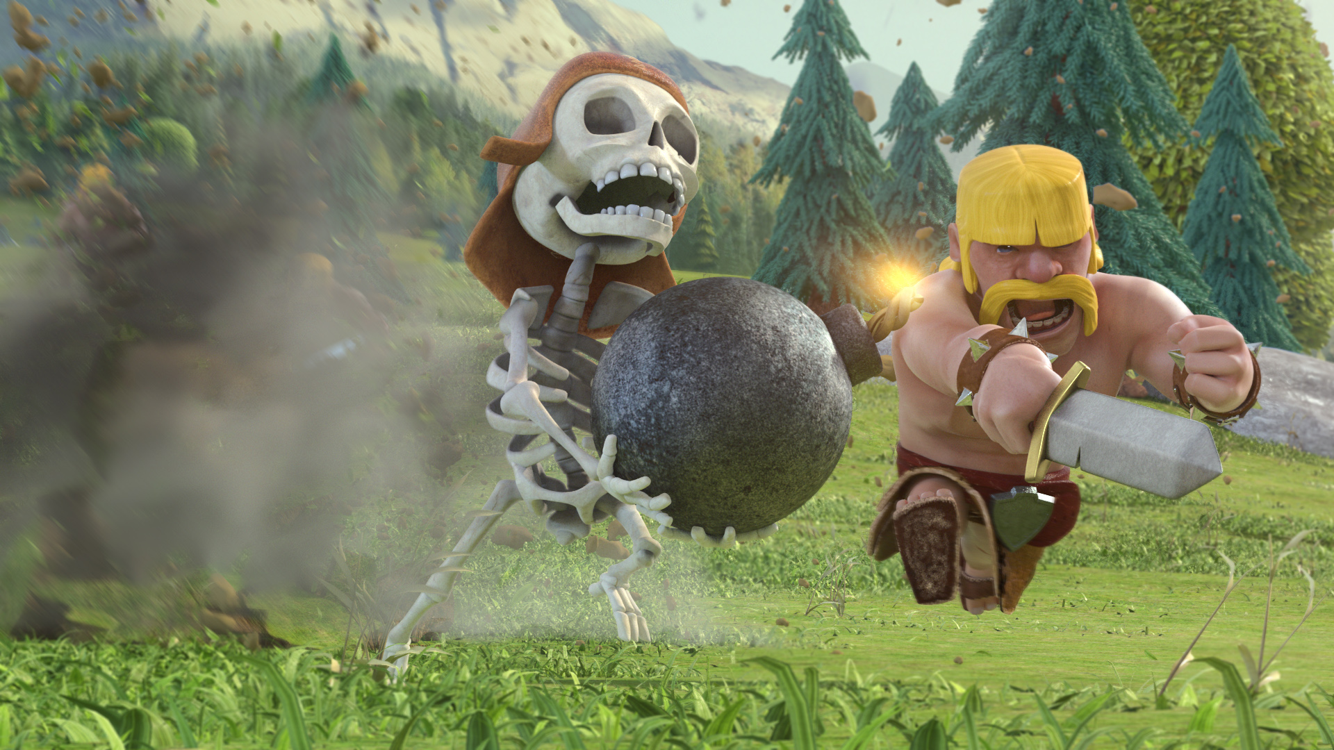 Barbarian Clash Of Clans Hd Hd Games 4k Wallpapers: Clash Of Clans Barbarian Wallpapers