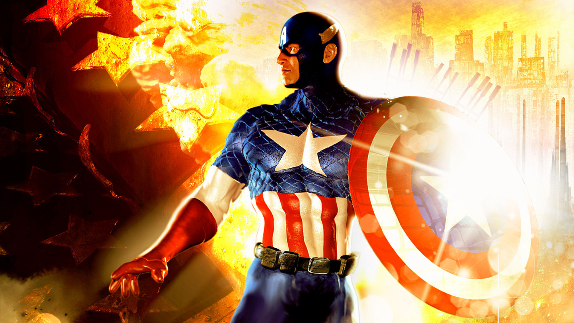 Captain America Full Hd Wallpaper: High Quality Captain America Wallpaper