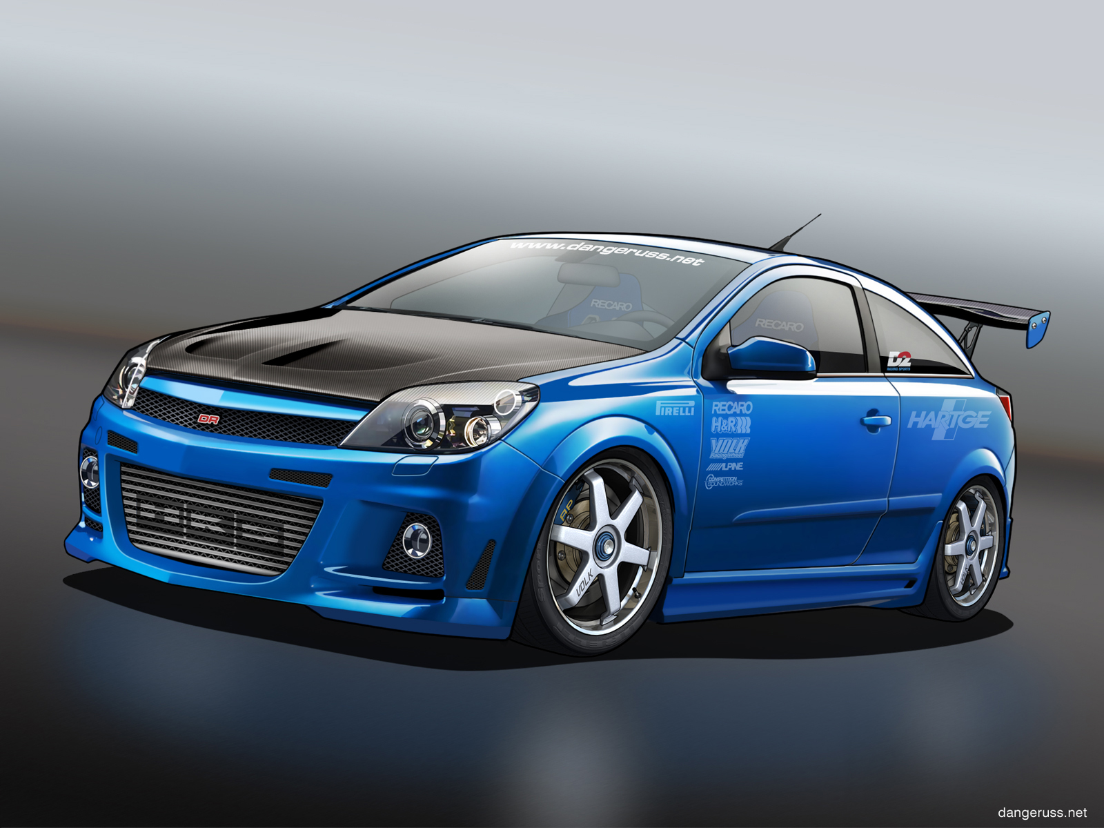 blue opel astra wallpaper full hd pictures
