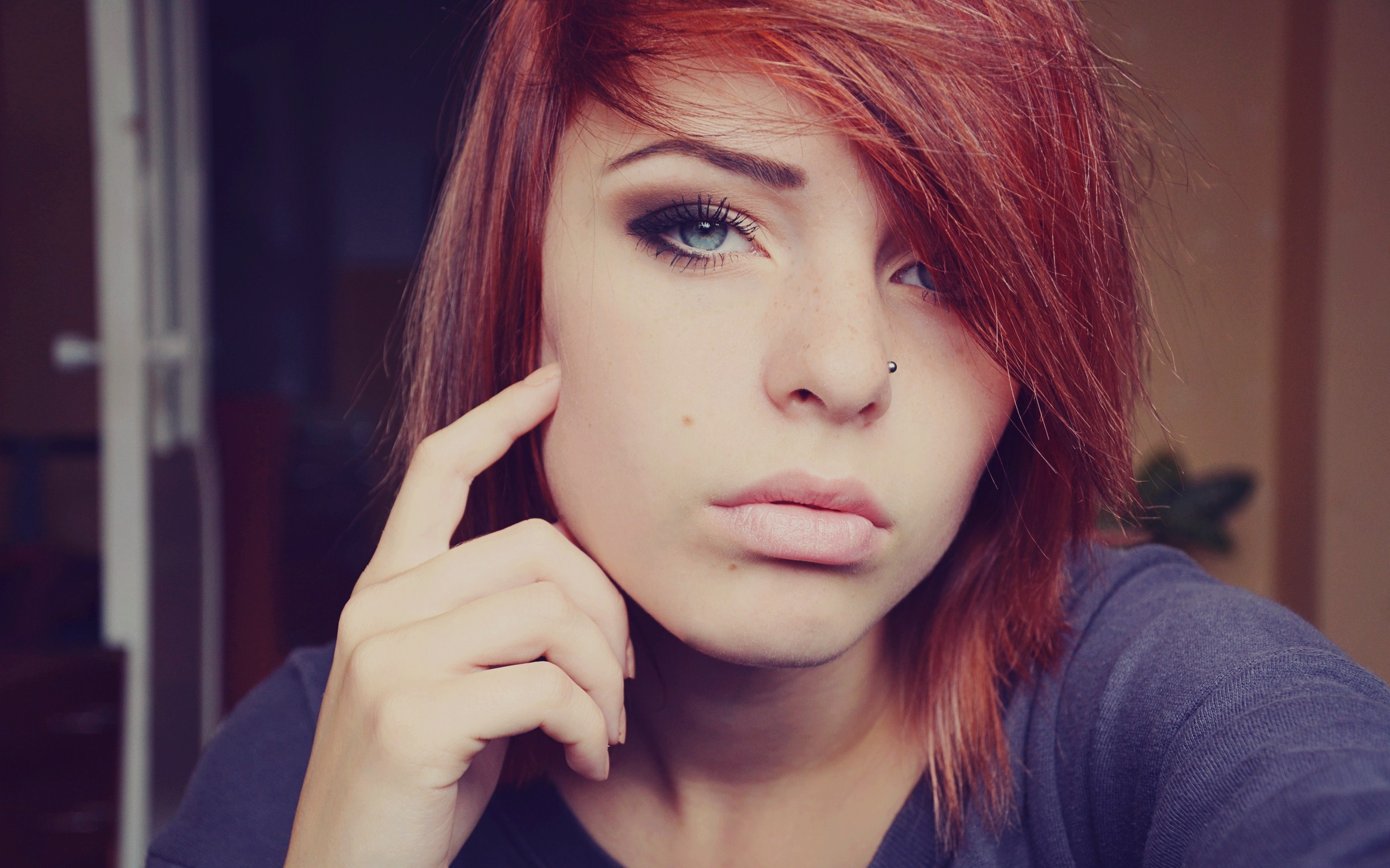 Great Redhead Girl Wallpaper  Full Hd Pictures-5063