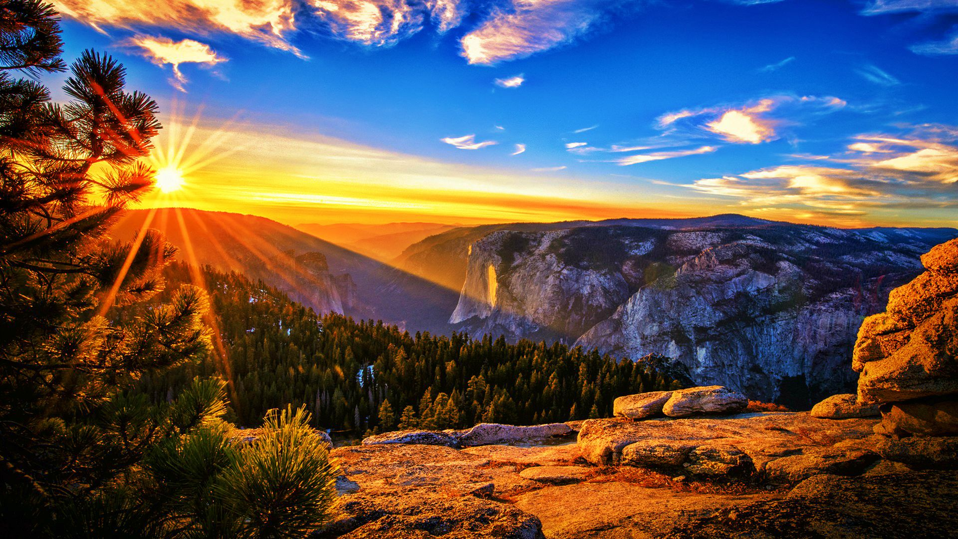 Mountain Sunrise Wallpaper | Full HD Pictures