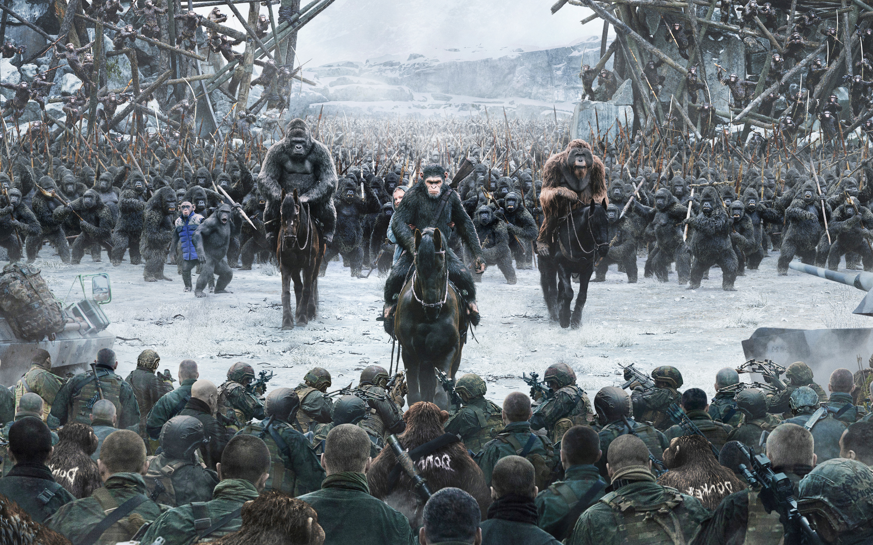 War for the Planet of the Apes Wallpaper 4K HD